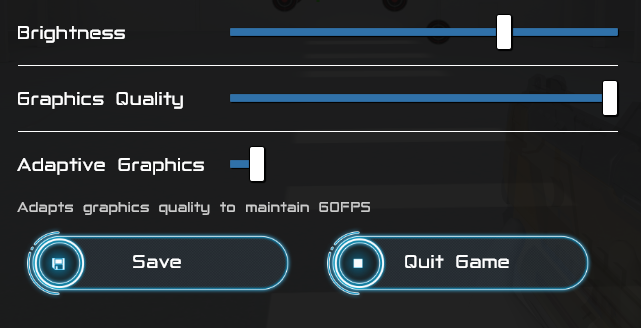 Graphics Quality Controls
